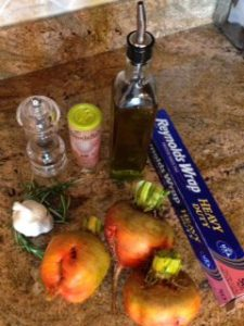 Ingredients for roasted golden beets