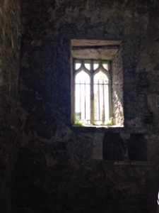 Light beaming through abbey in the Republic of Ireland