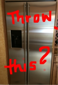 Written on refrigerator -Throw This?