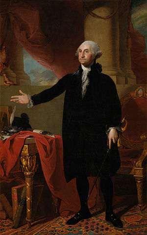 Gilbert Stuart Lansdowne painting of George Washingto