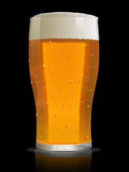 Frosty Glass of Beer similar to servings at The White House of Obama's home brew, Honey Beer.