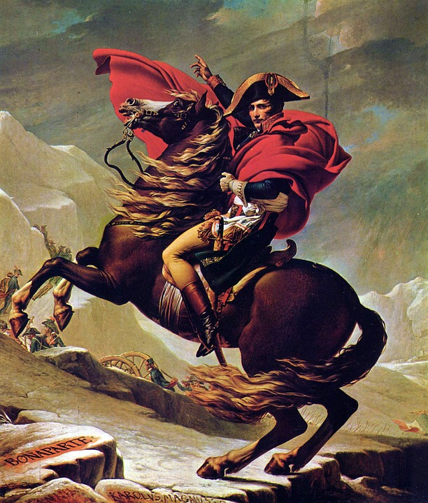 Napoleon Bonaparte on his rearing horse