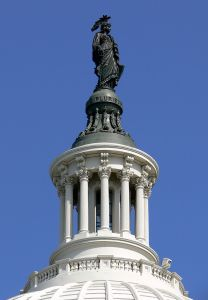 Capitol Dome topped by the Statue of Freedom