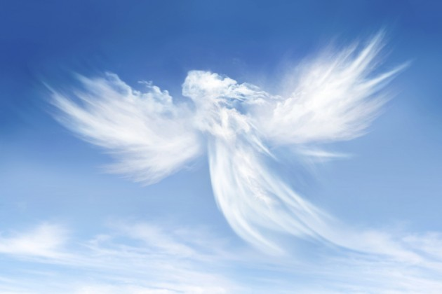 Image of an angel in the clouds