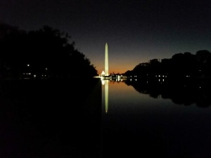 The Ellipse at night