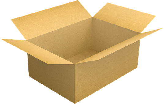 an empty box
