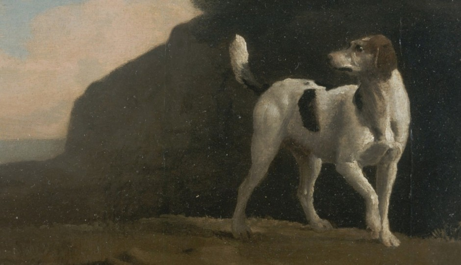 Oil painting of a hound