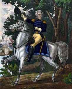 Andrew Jackson on his horse Sam Patch