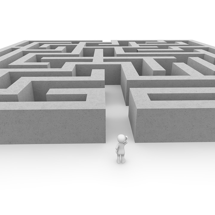 A labyrinth presenting challenges