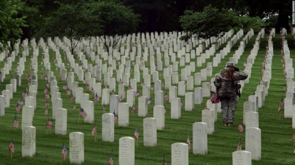 "Arlington National Cemetery ""Flags In"" honoring Memorial Day"