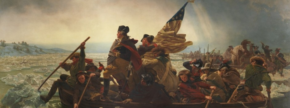 Famous painting of Gen. George Washington crossing the Delaware River