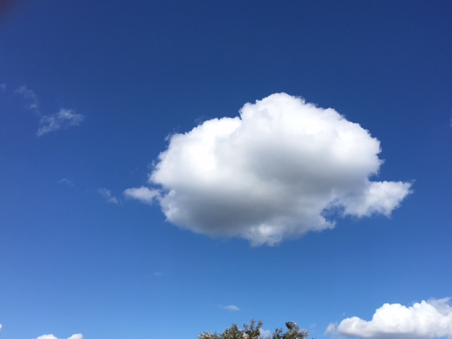 Cumulus cloud in the blue sky