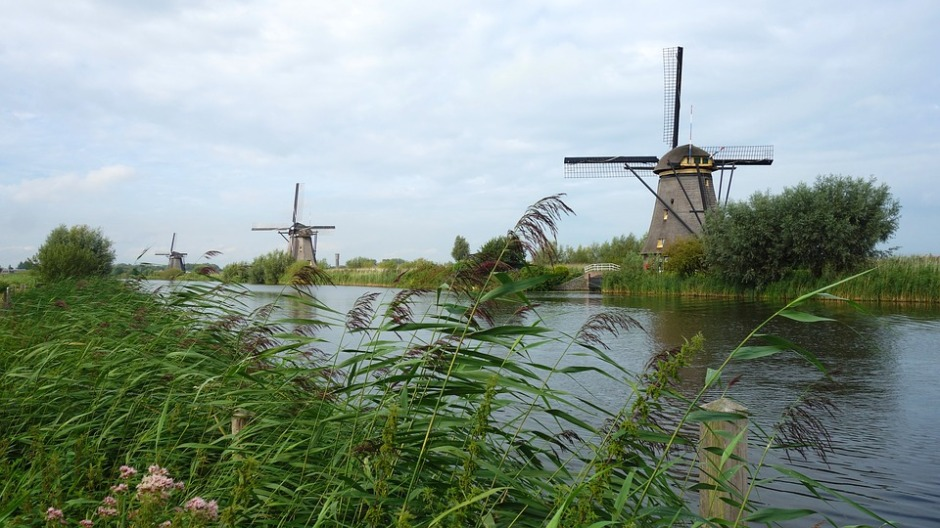 Windmills in Kinderdijk, The Netherlands