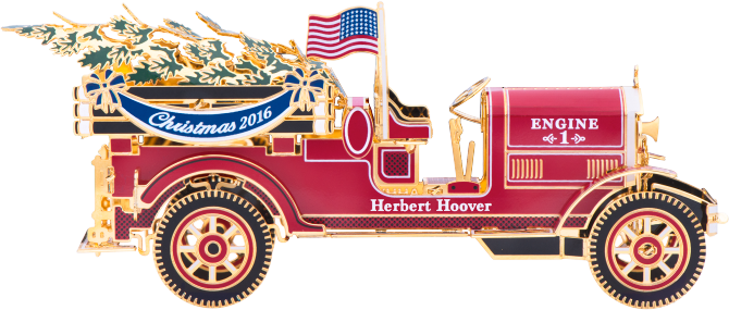 Official 2016 White House Ornament - Fire Truck Pumper