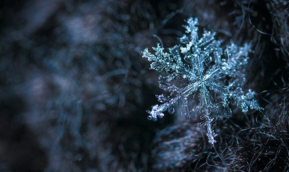 individual snowflake