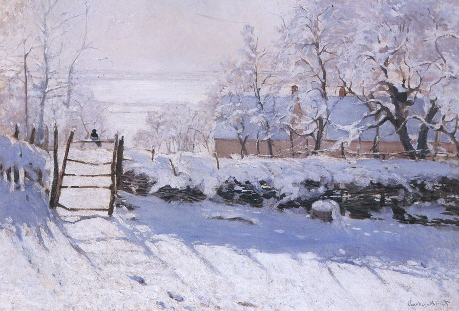 Monet's painting The Magpie