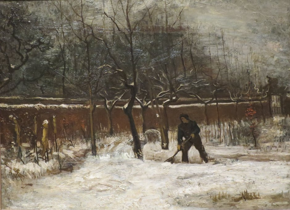 Winter (The Vicarage Garden under Snow) by Vincent van Gogh,