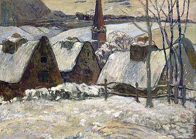 Paul GAUGUIN | Breton village in the snow [Village breton sous la neige]