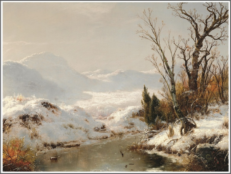 Snow Scene 1856 by Louis Remy Mignot