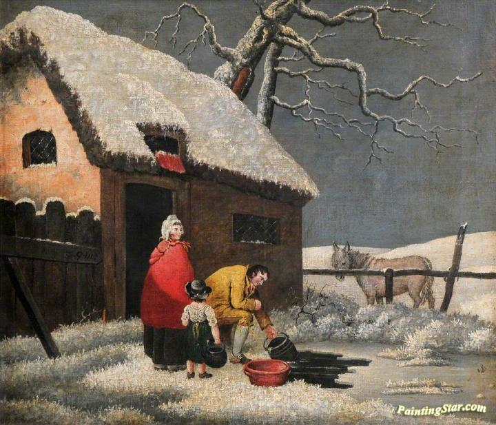 Breaking the Ice Artwork by George Morland