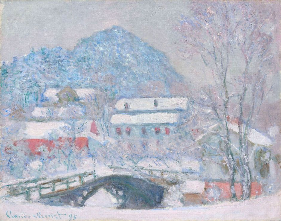 Claude Monet, Norway Sandviken Village in the snow, 1895