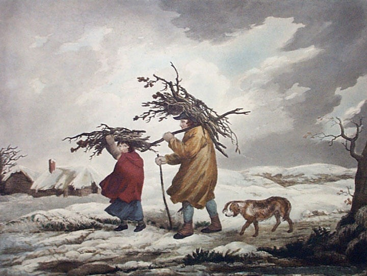 Cottagers in Winter, George Morland, 1795
