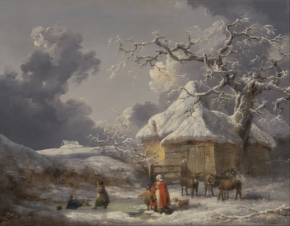 George Morland winter scene painting