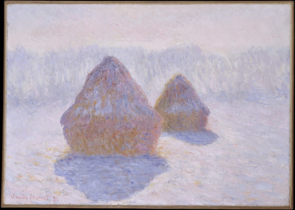 Claude Monet's Hay Stack in winter
