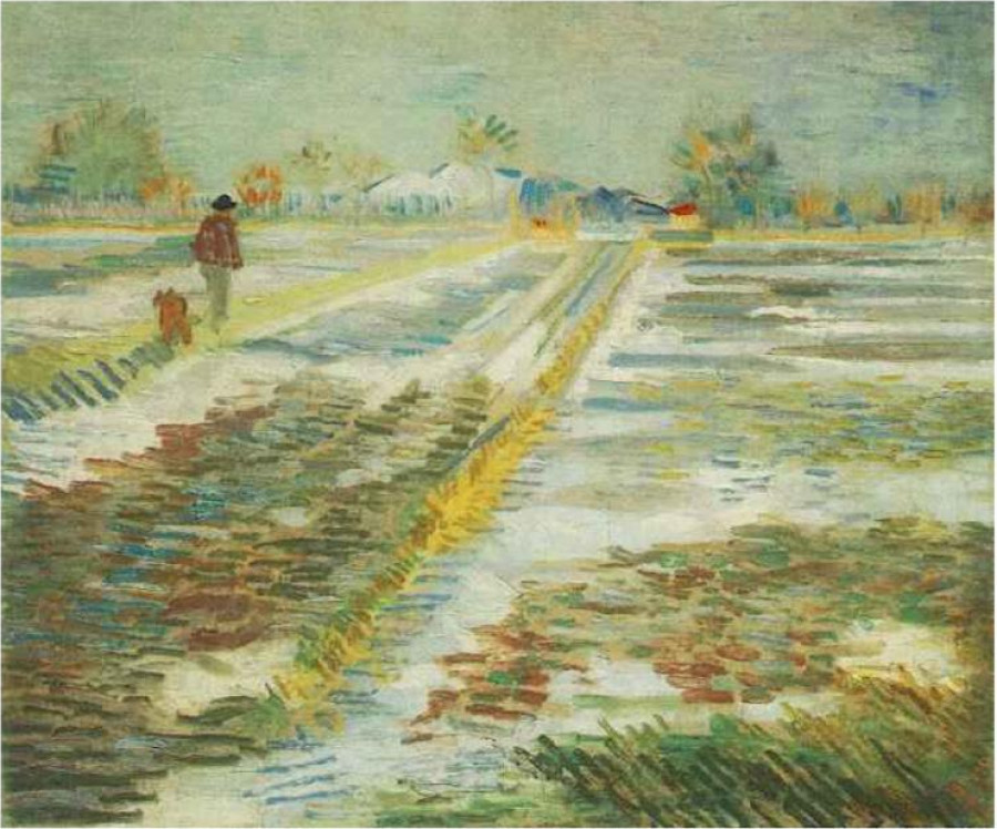 "Vincent van Gogh's ""Landscape in the Snow"""