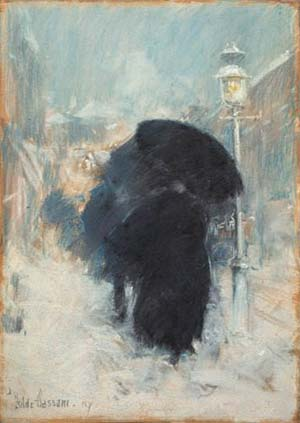 Childe Hassam (1859-1935), A New York Blizzard