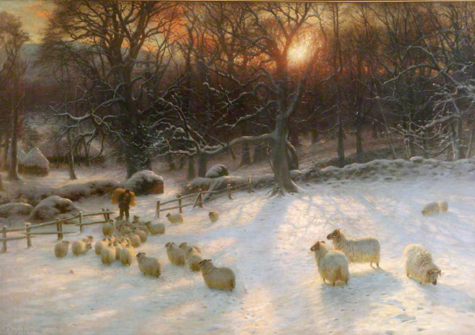 Joseph Farquharson, Beneath the Snow Encumbered Branches, 1901