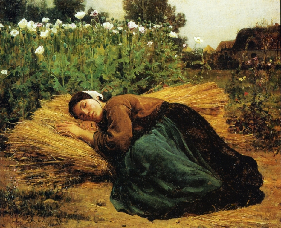 Rest in the fields, Jules Breton, 1866