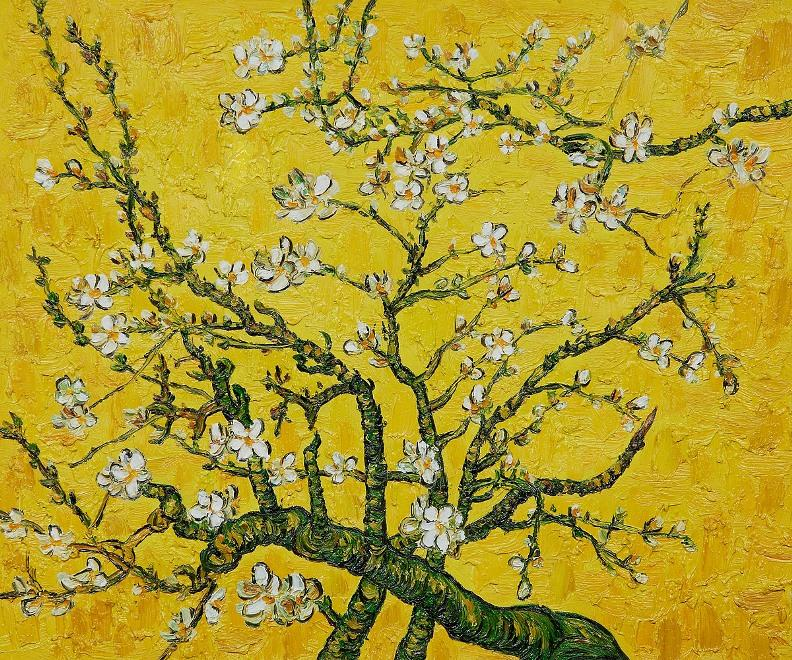 Branches of an Almond Tree in Blossom yellow painting - Vincent van Gogh