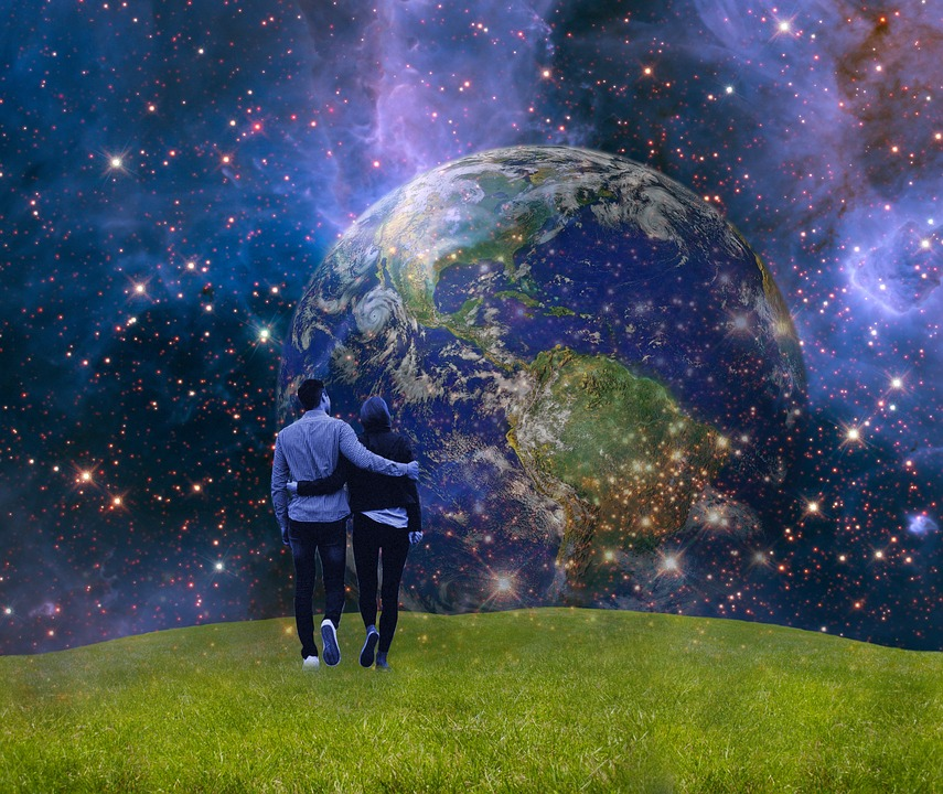earth and two together