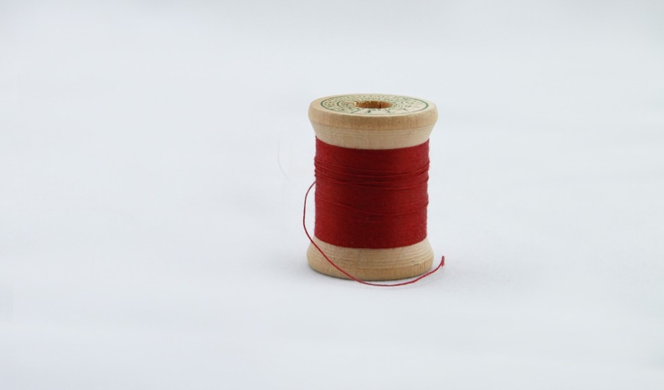 A spool of red thread
