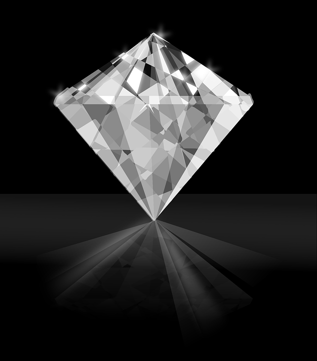 A brilliant cut diamond